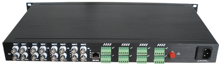 1 to 16 HD-SDI fiber converter