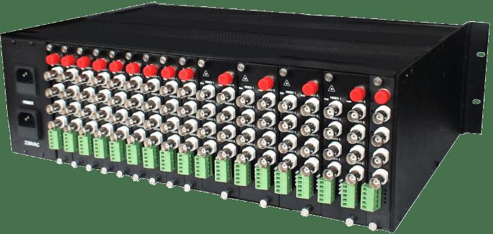 22 to 4 HD-SDI 3G-SDI converter fiber to coaxial