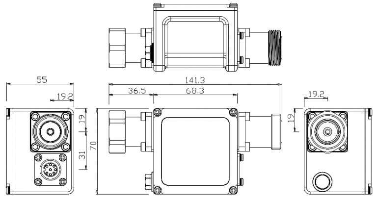 Smart Bias Tee Outline Drawing