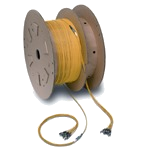 Fiber optic cable assembly drum