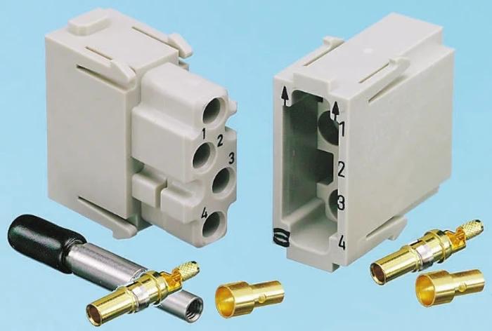 HARTING Han Multi Module Coaxial 4 Ports Connector