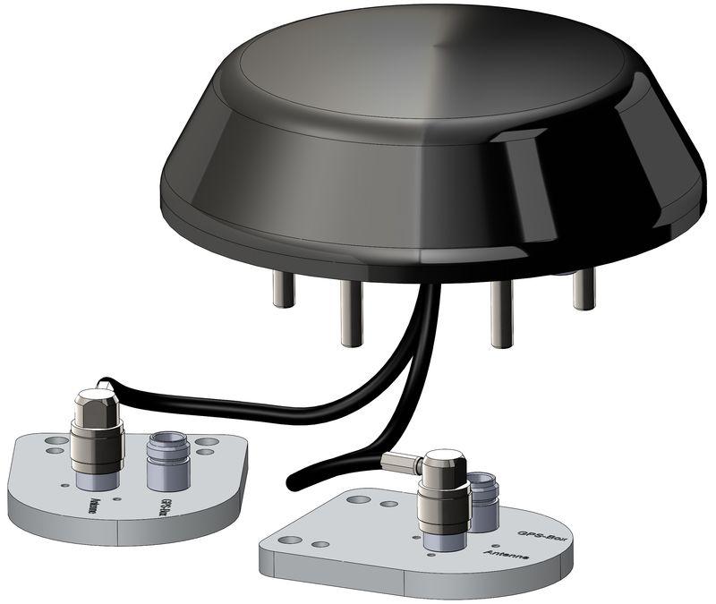 Dual GPS GLONASS Antenna with 2 Amplifiers