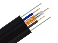 Hybrid Armoured Coaxial RG59 with 2 Power Wires with 2 Steel Wires