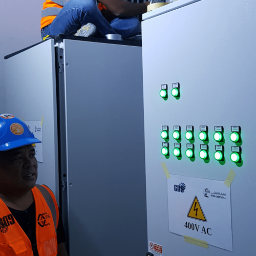 Installation Power and Control Cabinet2